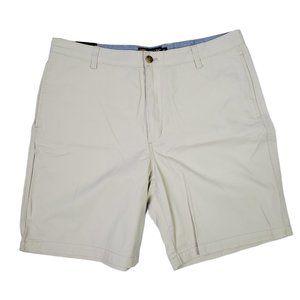 Chaps Men's Flat Front Chino Shorts Size 36
